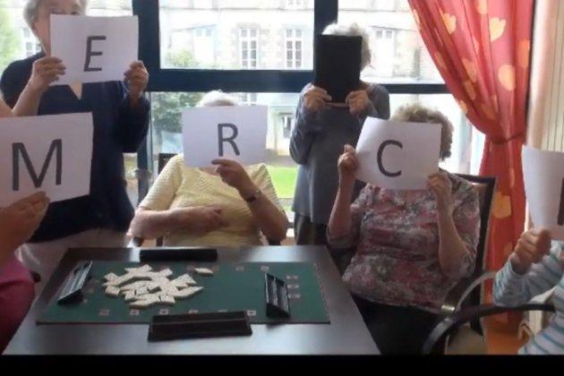 Covid-19 : les résidents de l'Orée des Bois disent merci dans un clip vidéo!