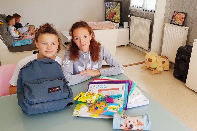Rentrée scolaire: au cœur d'une famille en pleine préparation