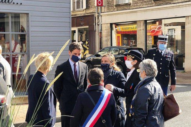Le porte-parole du gouvernement Gabriel Attal en visite dans l'Orne
