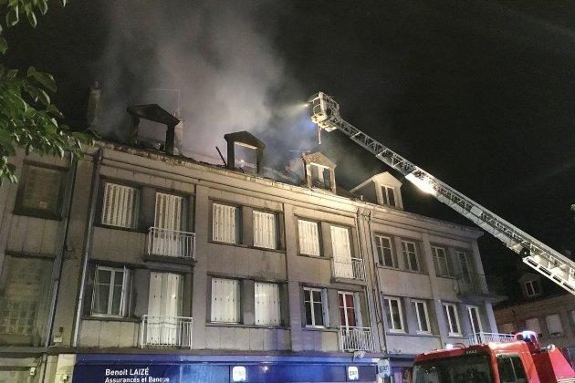 Neuf personnes relogées après l'incendie d'un bâtiment en centre-ville