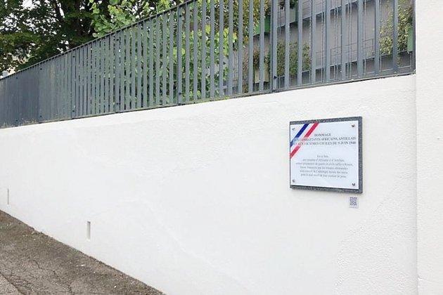 Une plaque en hommage aux Africains et Antillais tuésle 9 juin 1940