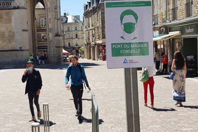 Covid-19: le port du masque devient obligatoire danssix centres-villes