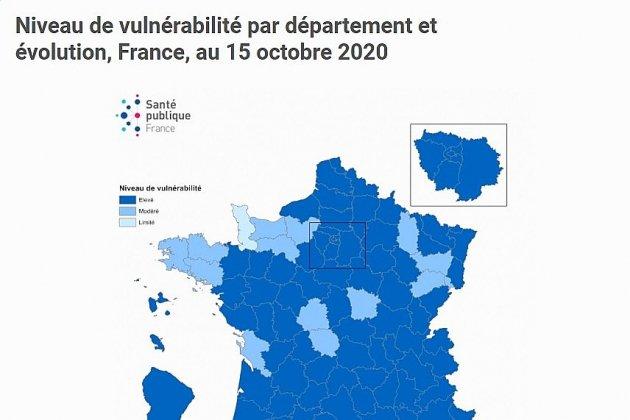 En France, la Manche est le département le moins vulnérable face à la Covid-19