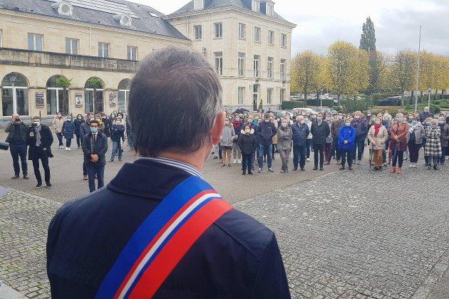 Hommage à Samuel Paty : 200 personnes rassemblées