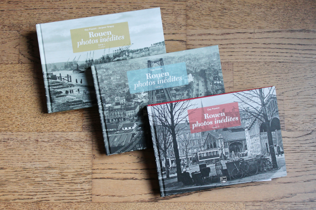 Rouen photos inédites: trois recueils signés Guy Pessiot