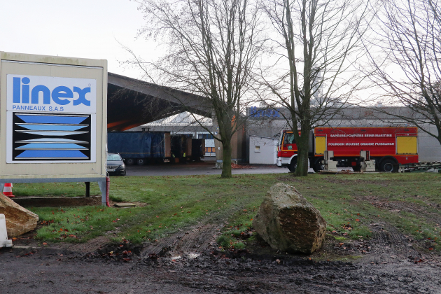 Incendie et explosionau sein de l'entreprise Linex
