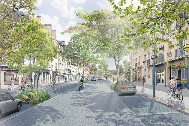 Une rue d'Auge végétaliséeen 2025