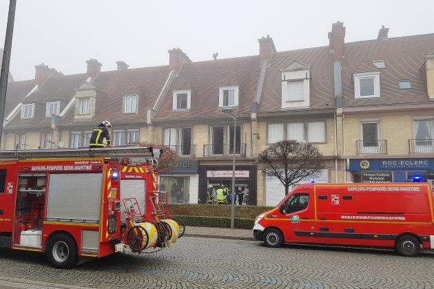 Début d'incendie dans un magasin sur le Mail