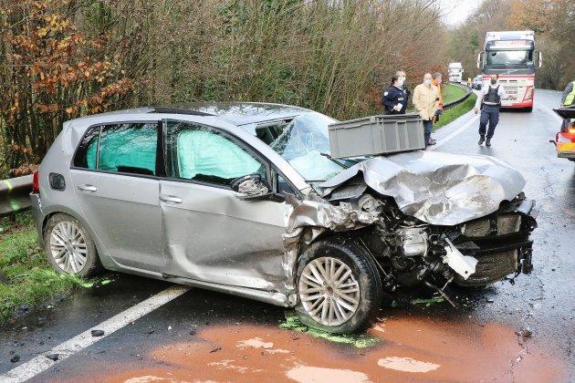 Accident sur la D6015: quatre blessés dont un en urgence absolue
