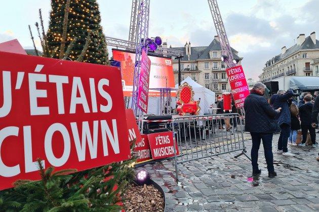 Le secteur de l'événementiel mobilisé devant la cathédrale de Rouen