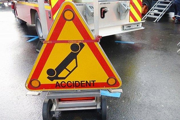 Un homme légèrement blessé dans un accident
