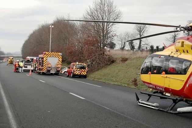 A84 : 2 hélicoptères mobilisés après un accident faisant 2 blessés graves