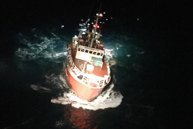 Évacuation sanitaire d'un marin-pêcheur au nord de Guernesey