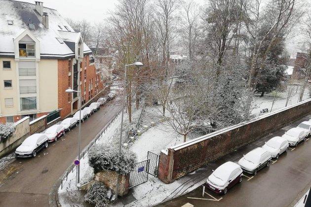 A Rouen et dans le pays de Caux, la neige a fait son apparition