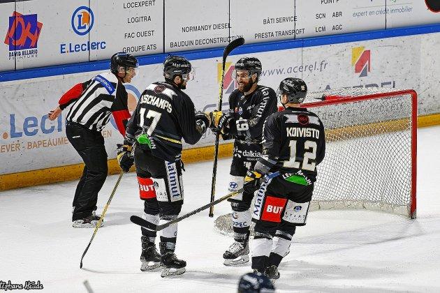 Hockey sur glace (Magnus). Les Dragons de Rouenà l'affût des Boxers de Bordeaux