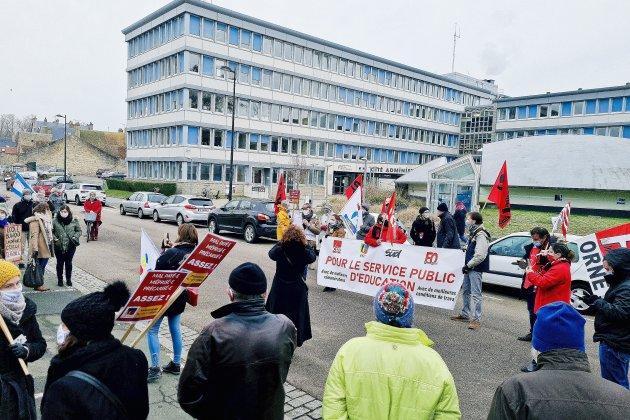 Plus d'une centaine d'enseignants mobilisés dans les rues d'Alençon