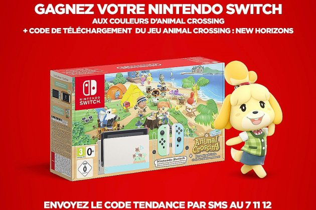 Remportez votre Nintendo Switch aux couleurs d'Animal Crossing