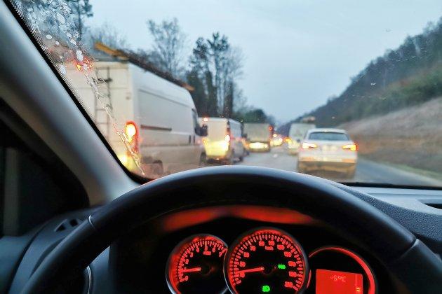 Sur l'A150, les élus réclament la création d'une voie véhicules lents