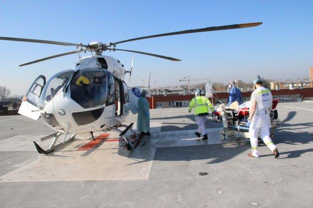 Des malades, hospitalisés à Dunkerque, héliportés vers l'hôpital du Havre