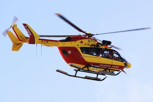 Victime d'un accident de quad, un hommeévacué par hélicoptère