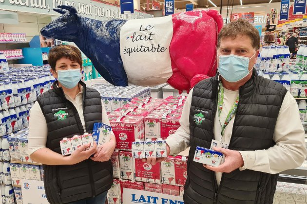 Des producteurs de lait FaireFrance à la rencontre des consommateurs