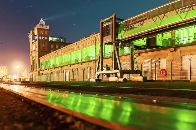 Premier port français vers l'Irlande, Cherbourg s'illumine de vert