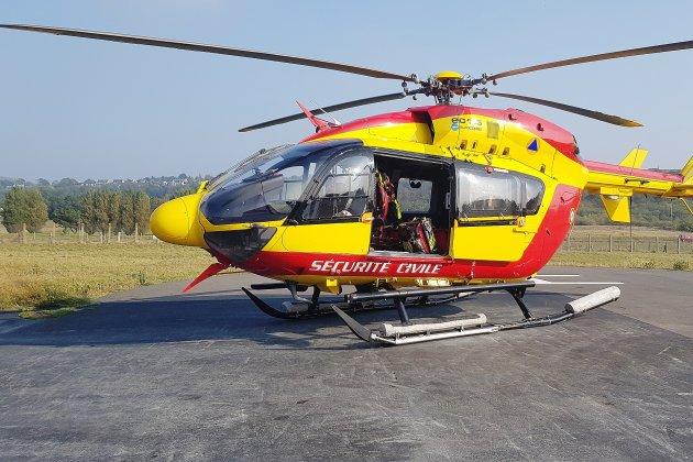 Un marin blessé évacué par hélicoptère au large de Chausey