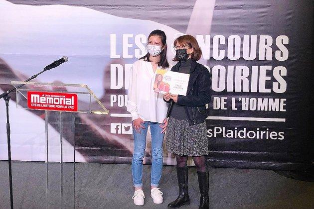 La lycéenne caennaise victorieuse de deux prix