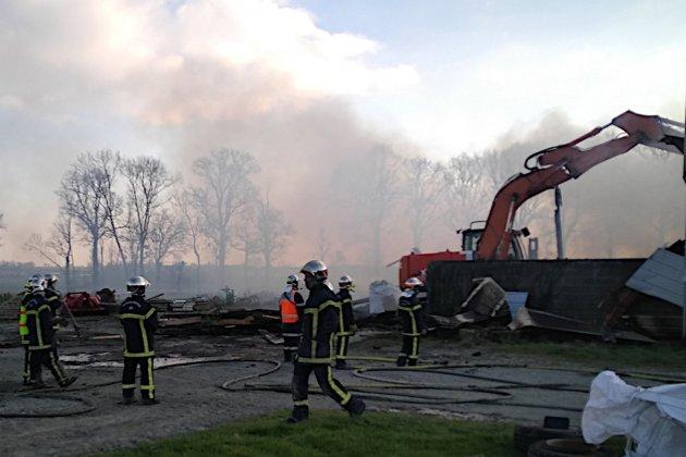 Un incendie se déclare dans unbâtiment agricole