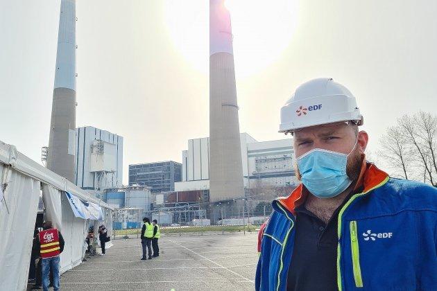 Les salariés de la centrale à charbon réunis pour la fermeture définitive