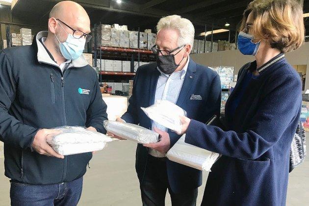 16800 masques en tissuvont être distribuésaux plus démunis