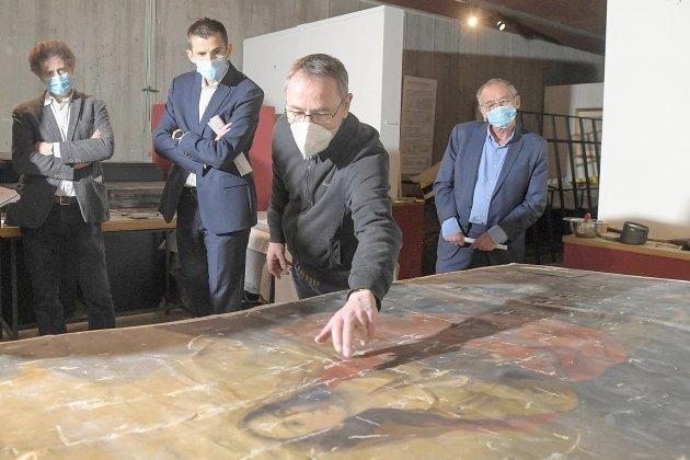 Les œuvres dérobées et restituées de l'église Saint-Jacques en restauration