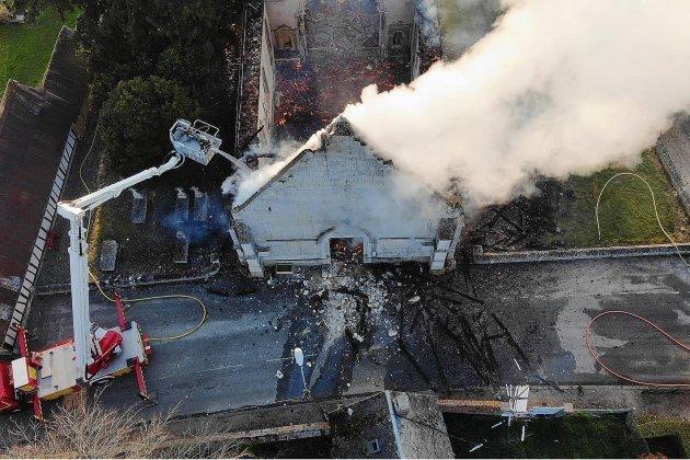 Incendie de l'église: un million d'eurosde dégâts, une cagnotte est lancée