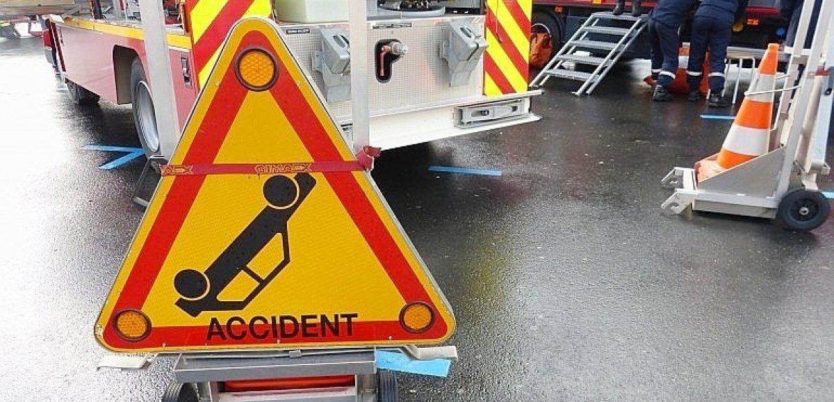 Sortie de route d'un utilitaire: quatre blessés