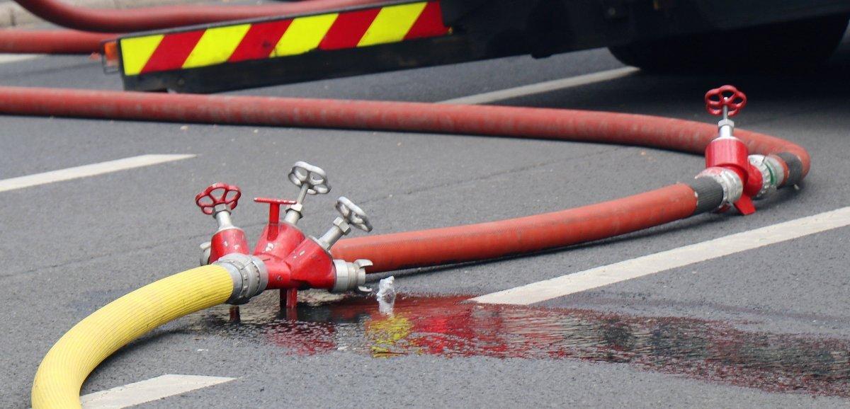 Départ de feuau dojo en travaux: un homme brûlé aux mains
