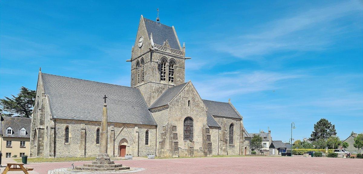 77e anniversaire du D-Day: Sainte-Mère-Église quasi déserte