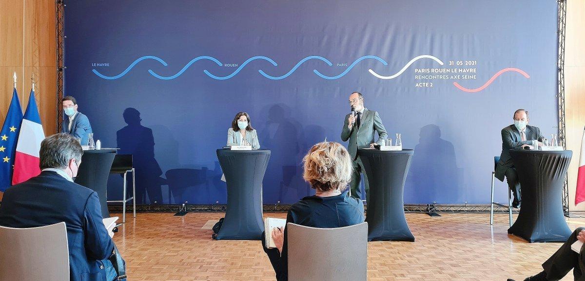 Paris, Rouen et Le Havre veulent développer le transport fluvial