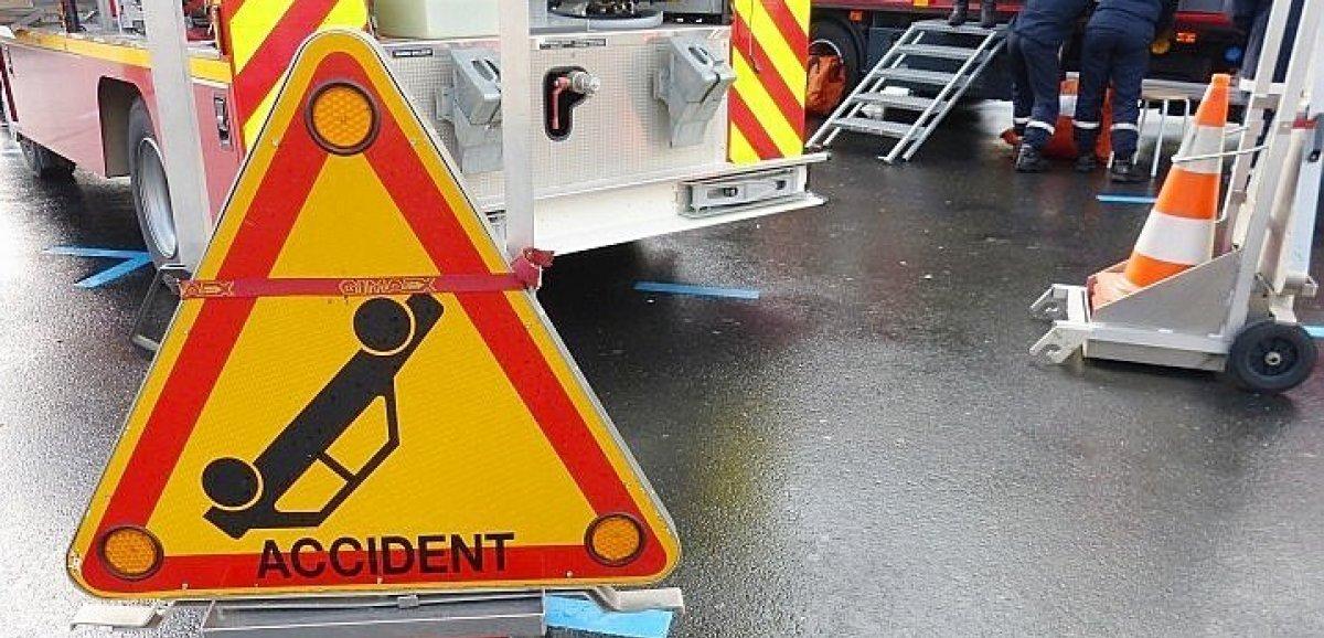 Accident de la route : la victime transportée en urgence absolue