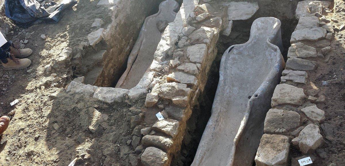 Flers. Fouilles archéologiques de 2014: le cœur en plomb analysé