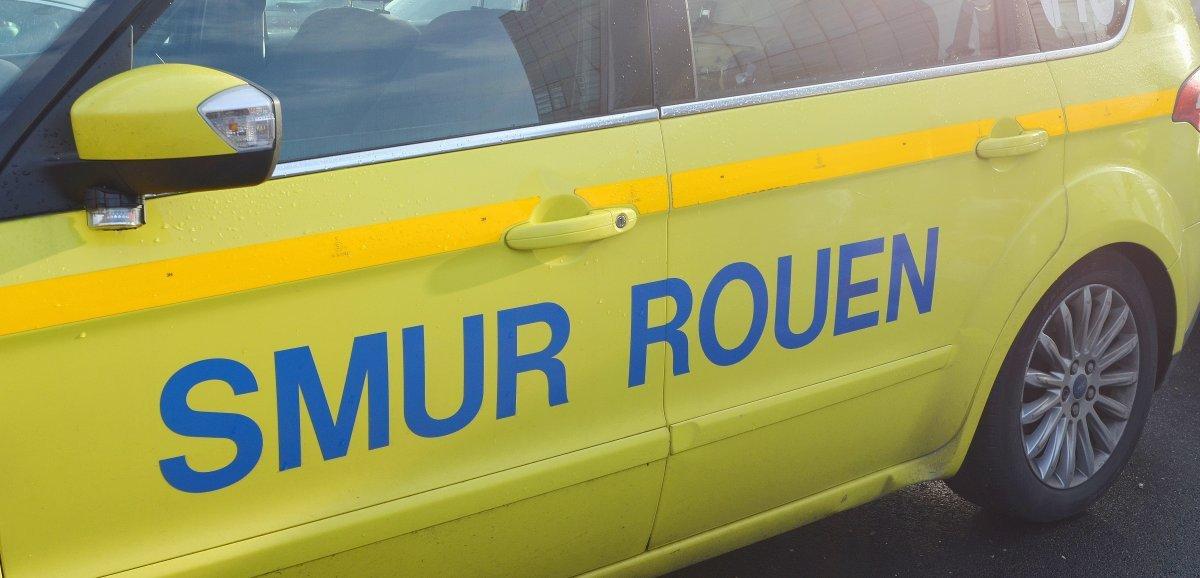 Près de Rouen. Renversé par un poids lourd, un homme de 70 ans grièvement blessé