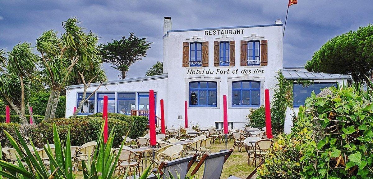 Granville. Le restaurant du Fort et des Iles à Chausey