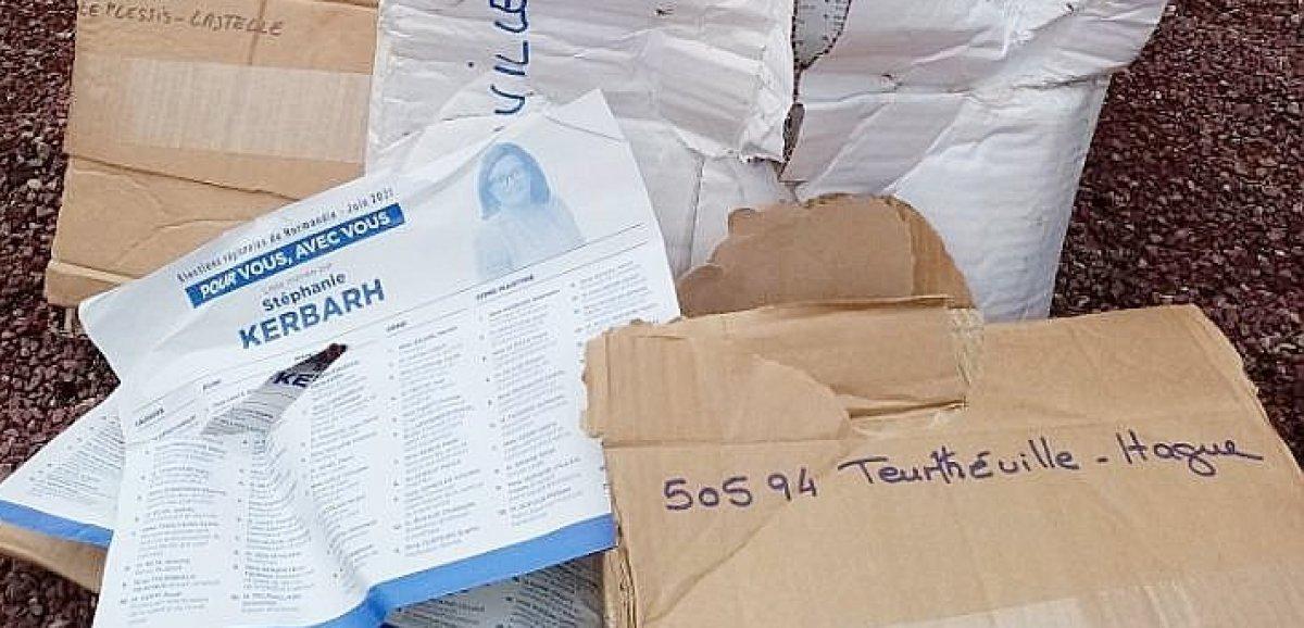 Élections 2021: quatrecolis debulletins de voteretrouvésà la poubelle