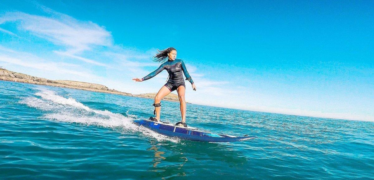 """Eure. Le """"e-surf"""" a fait son arrivée à la base de loisirs de Léry-Poses"""