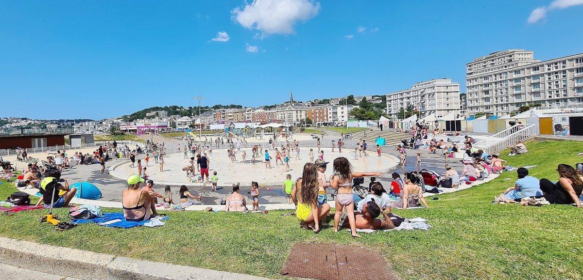 À la plage, 120 jets d'eaupour se rafraîchir