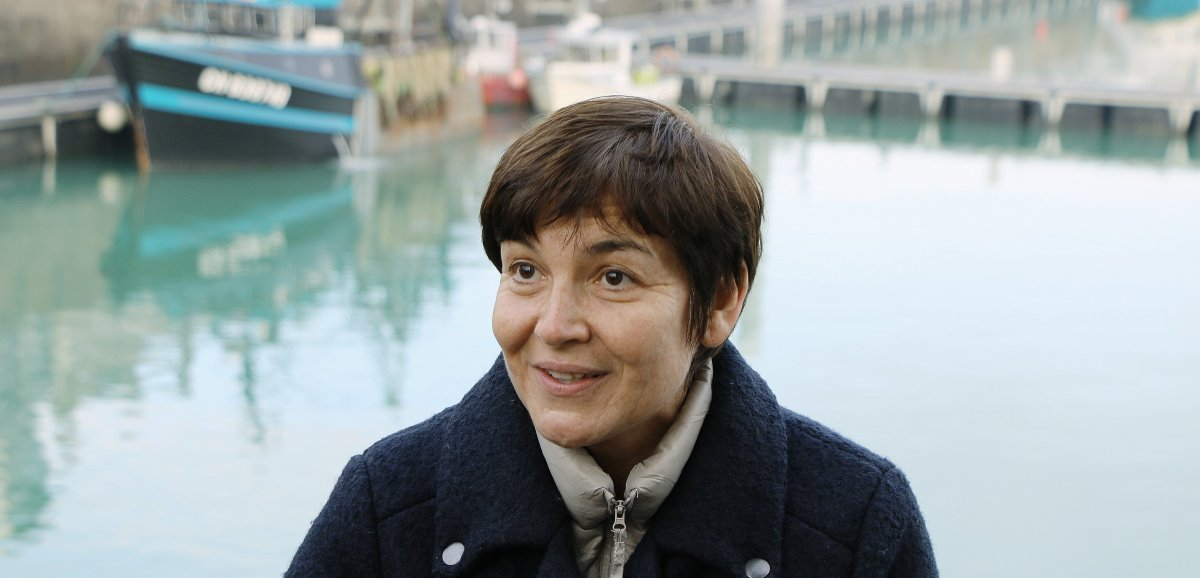 Côte d'Albâtre. La ministre de la Mer, Annick Girardin, en visite
