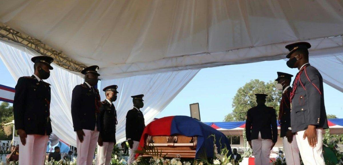 L'adieu d'Haïti, sous haute tension, à son président assassiné