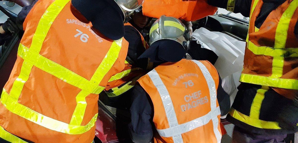 Près de Cany-Barville. Deux motards âgés de 24 et 25 ans blessés dans un accident