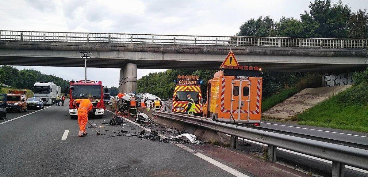 [Actualisé] Manche. Deux morts dans un grave accident sur l'A84
