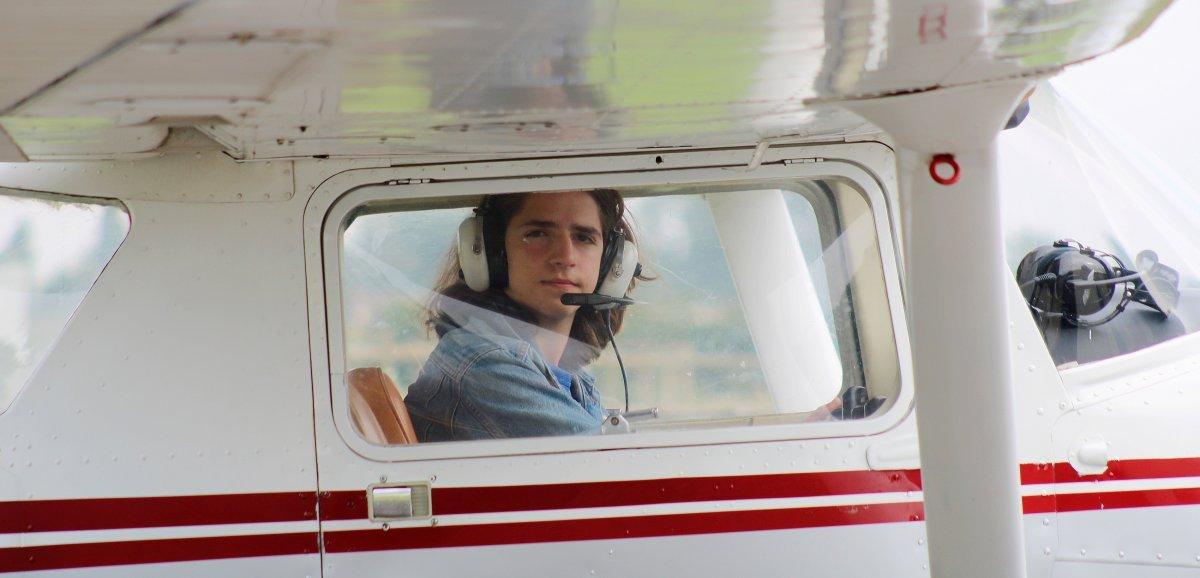 Alençon. À seulement 16 ans, il pilote un avion en solo