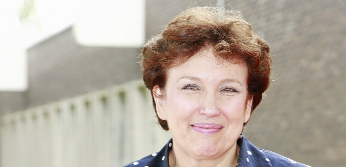 La ministre de la Culture Roselyne Bachelot en visite dans la Manche